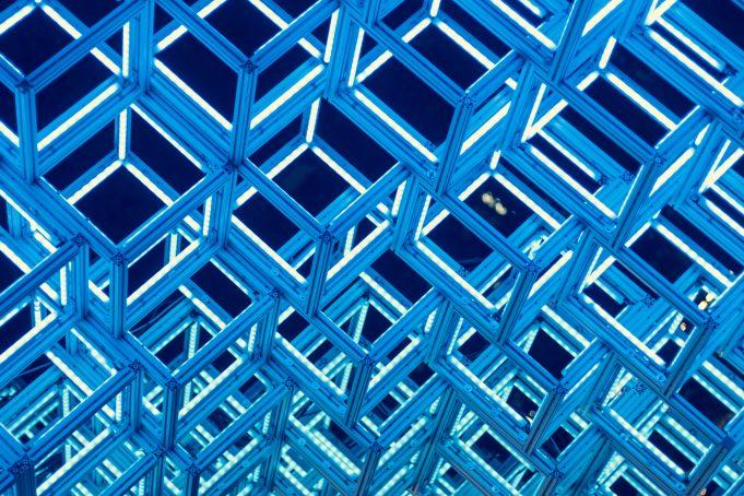 Glow cubes light art pattern background