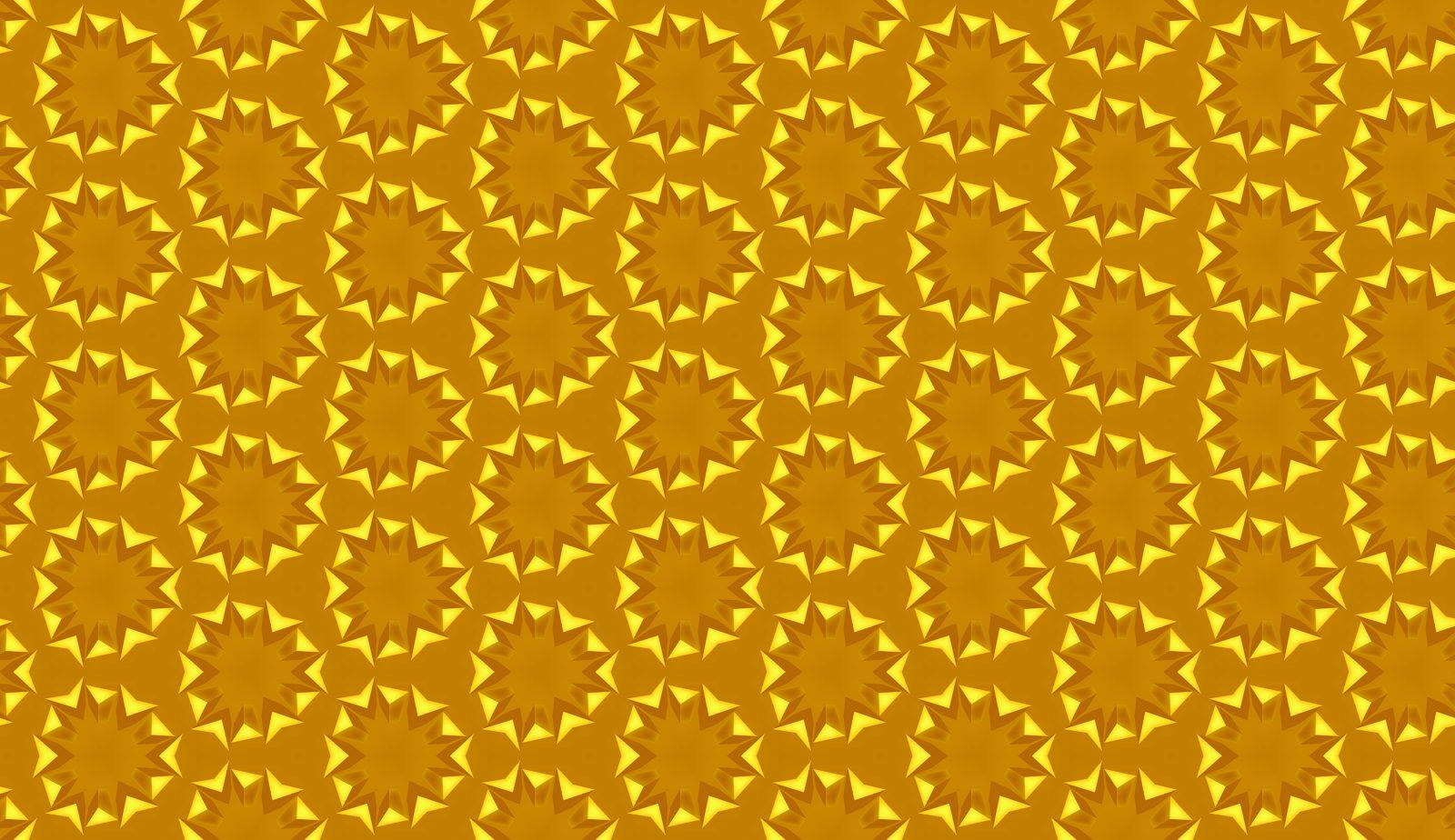 Golden Circular Sunflower Pattern