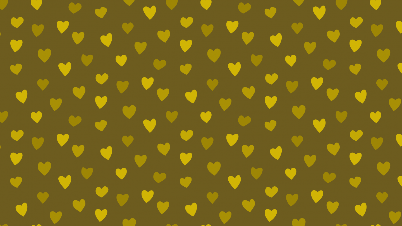 Golden hearts background seamless pattern