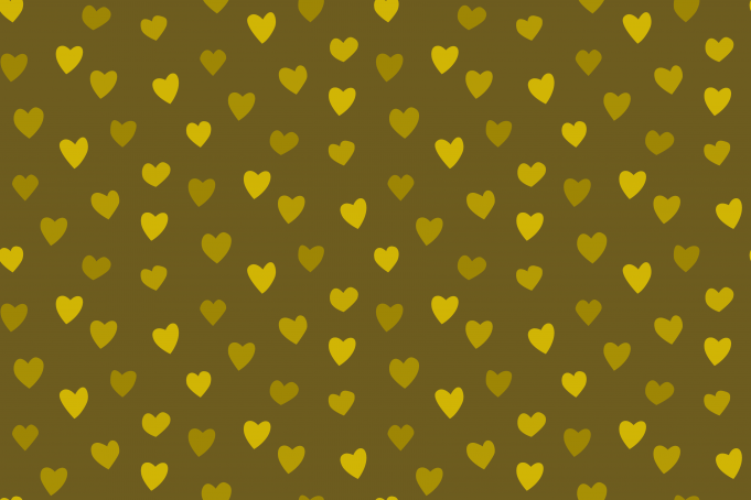 Golden hearts background seamless pattern
