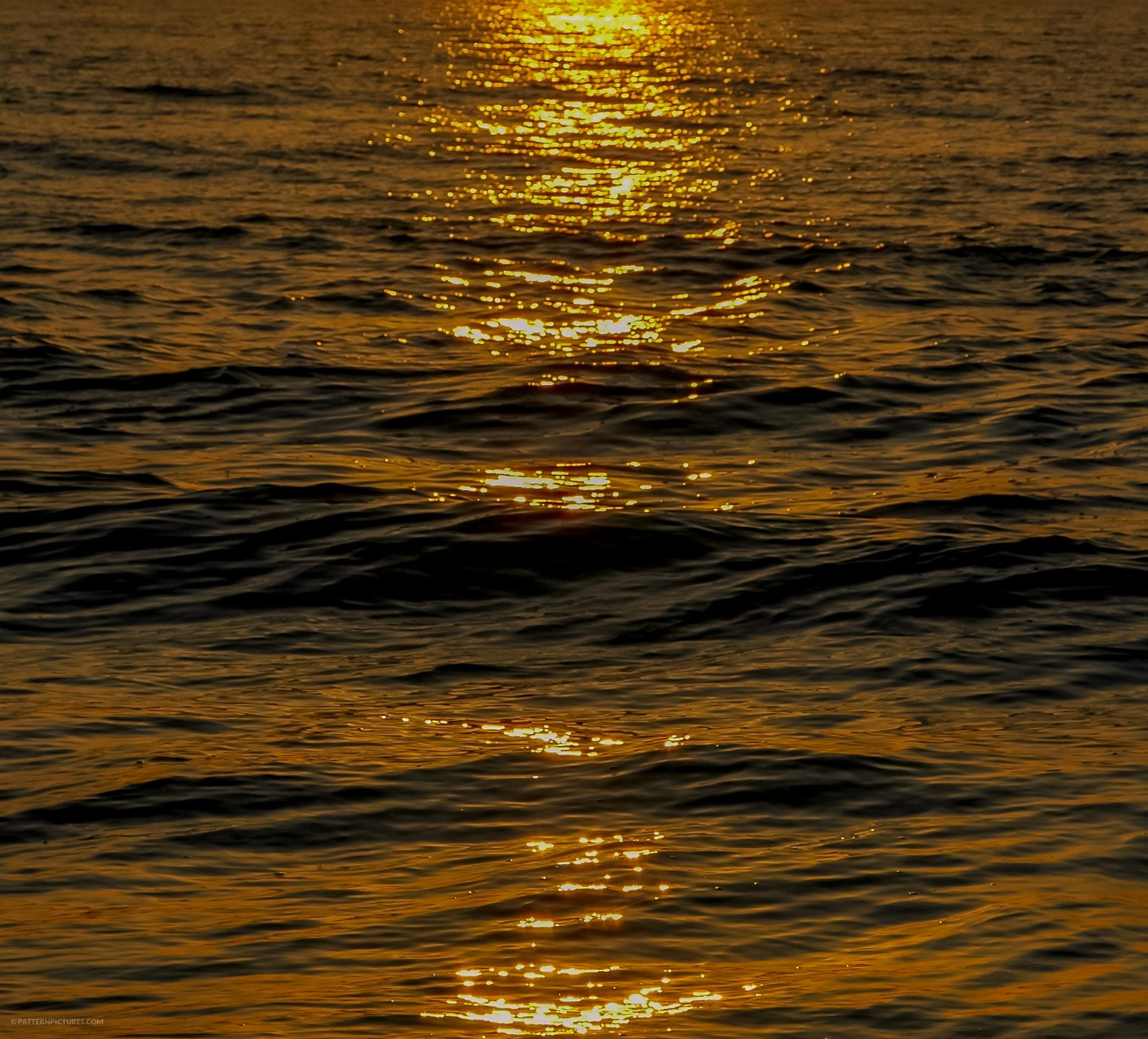 Golden hour sea sunshine