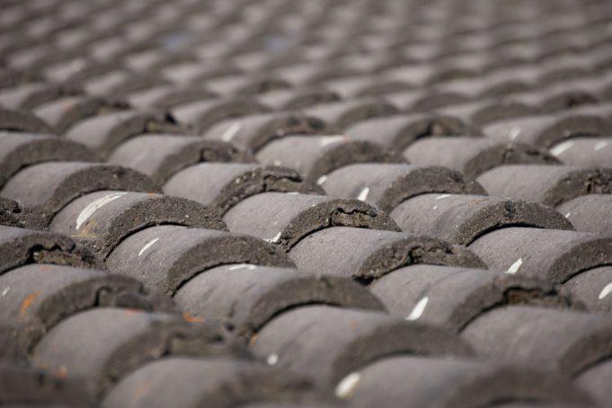 Gray roof tiles