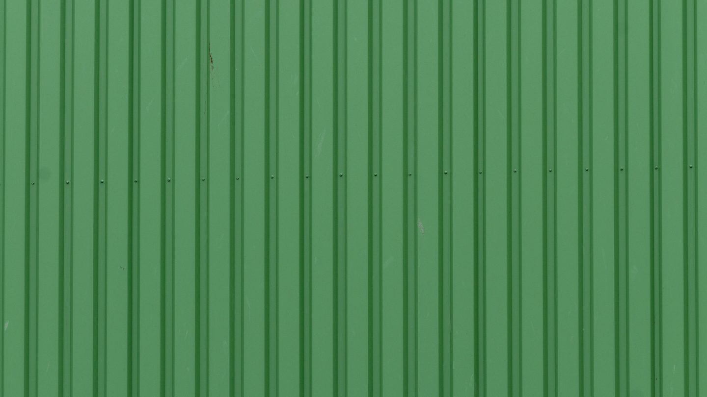 Green metal container background