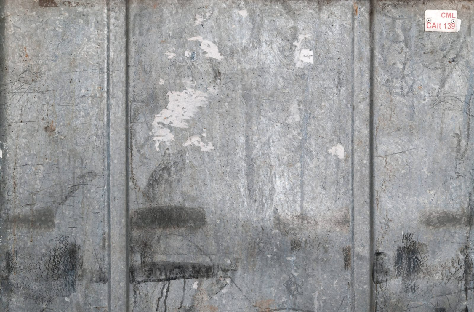 Grey Container Worn Metal Surface