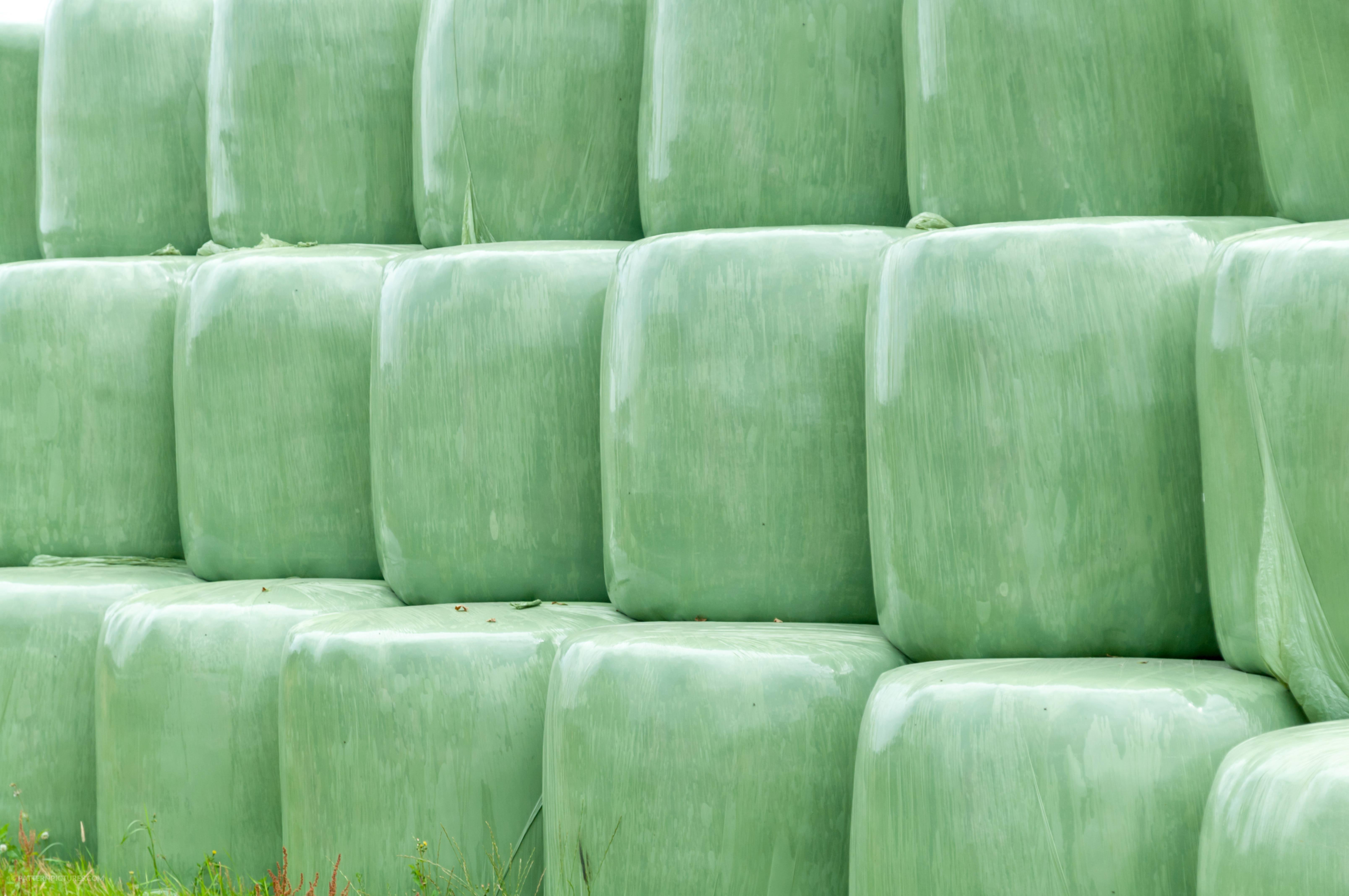 Hay Bales Plastic Wrap