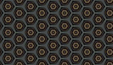 Hexagon dark grey jeans pattern