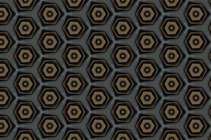 Hexagon dark grey jeans pattern
