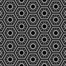 Honeycomb Futuristic Black White Pattern