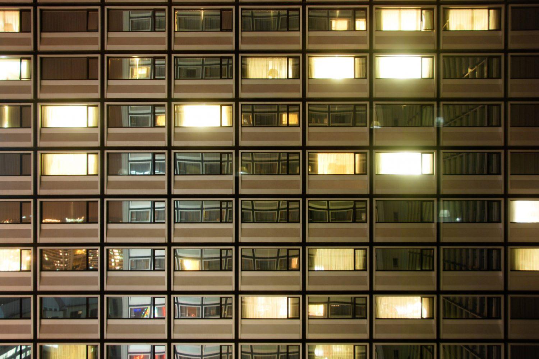 Hotel Windows by Night
