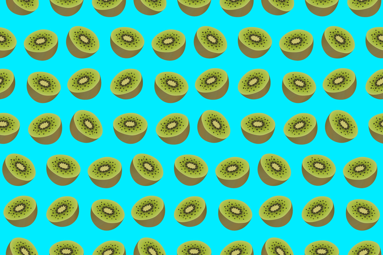 Kiwis fruit background seamless pattern