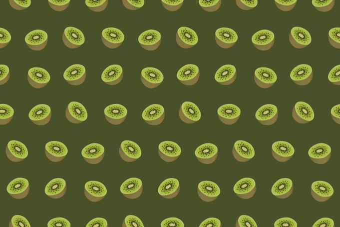 Kiwis fruit green background seamless pattern free stock graphics
