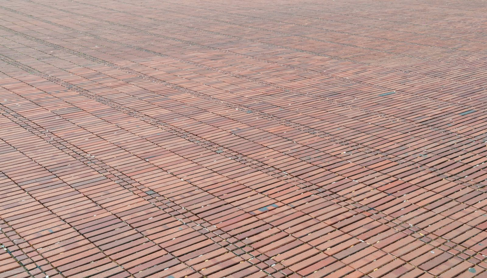 Large surface red stone terrace floor