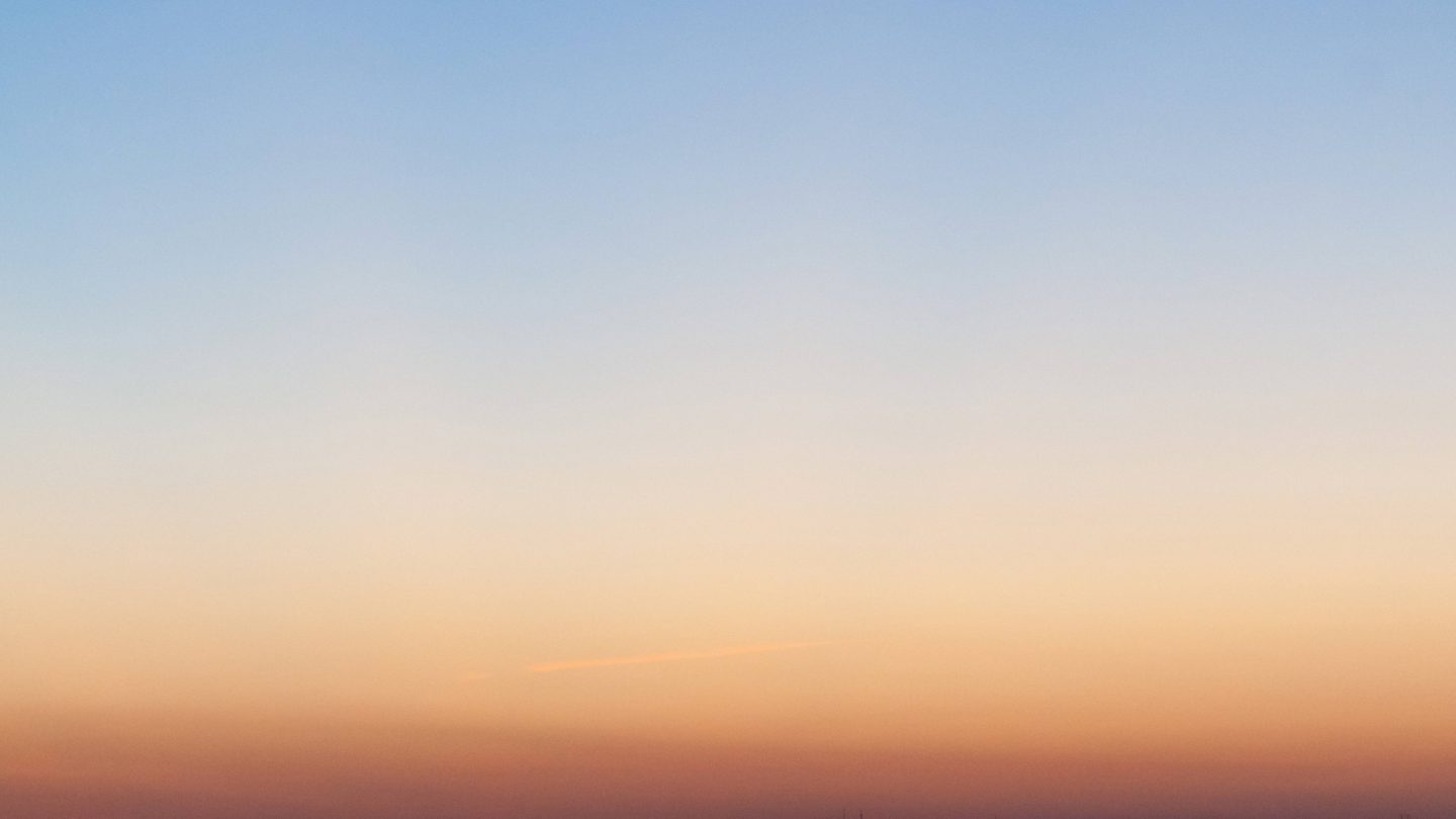 Light blue and orange clear sky during sunset