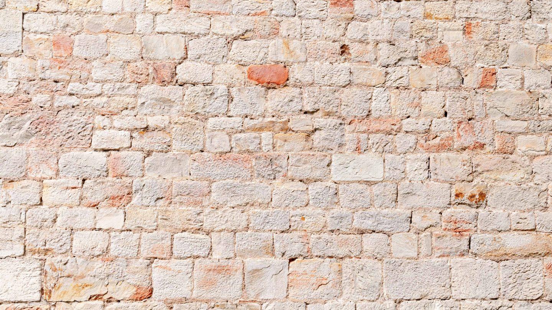 Light mediterranean rock stone wall pattern