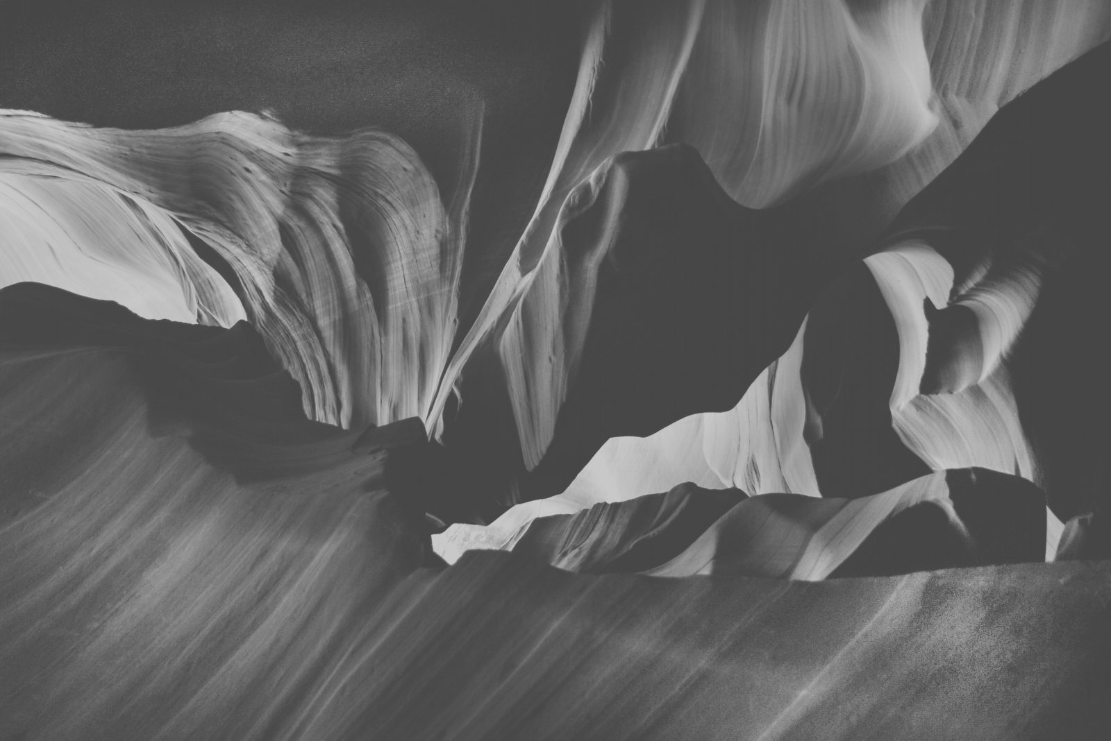 Lower Antelope Canyon texture black and white