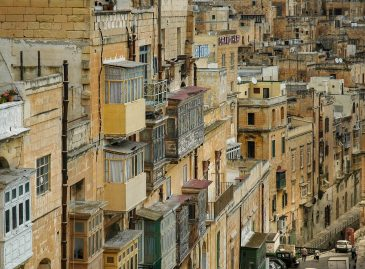Malta Valleta stacked houses