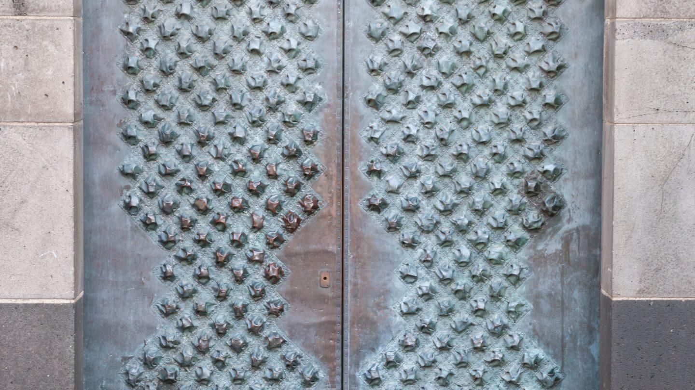 Medieval Church Metal Door