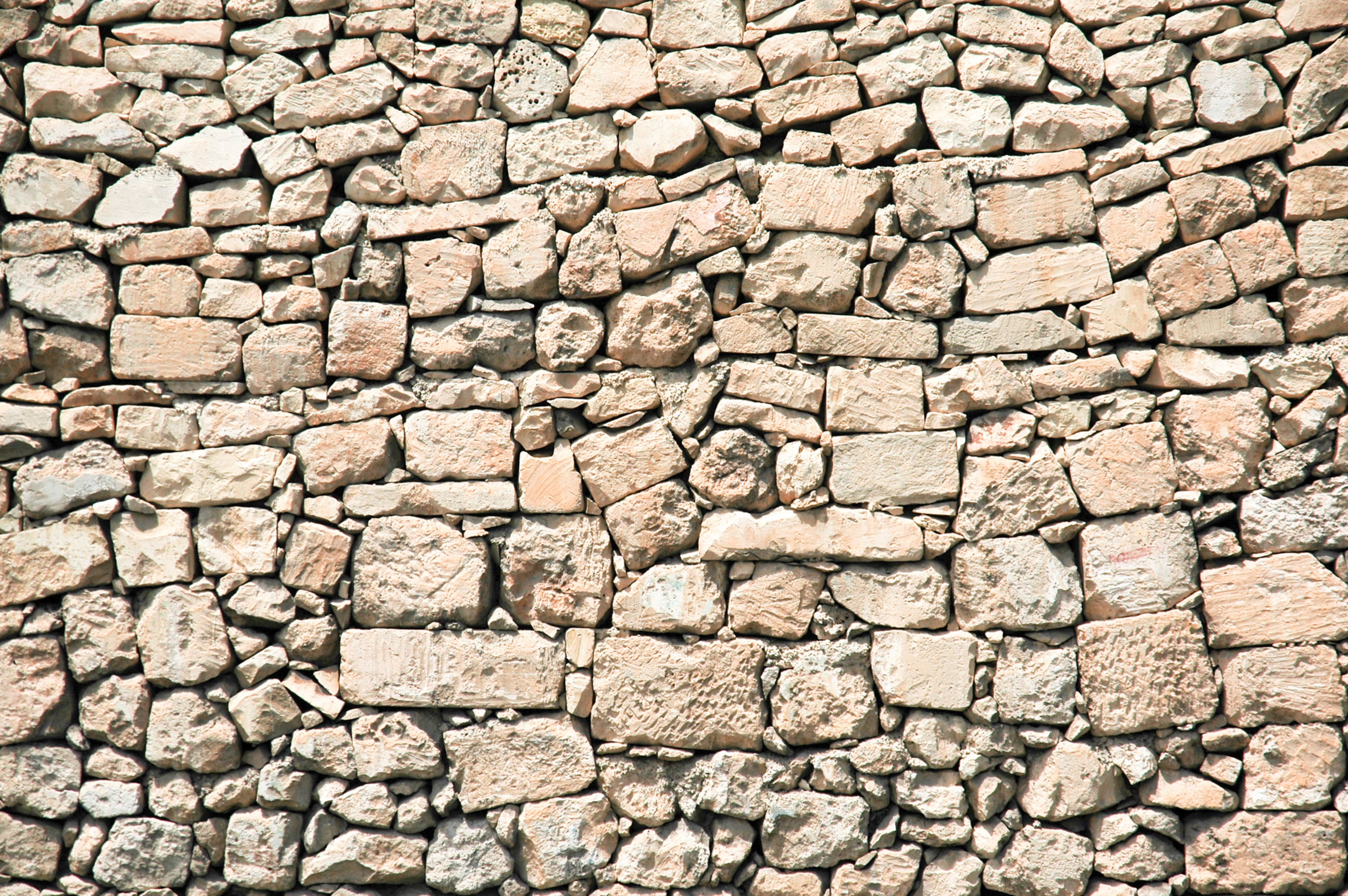 Medieval Stone Stacked Wall