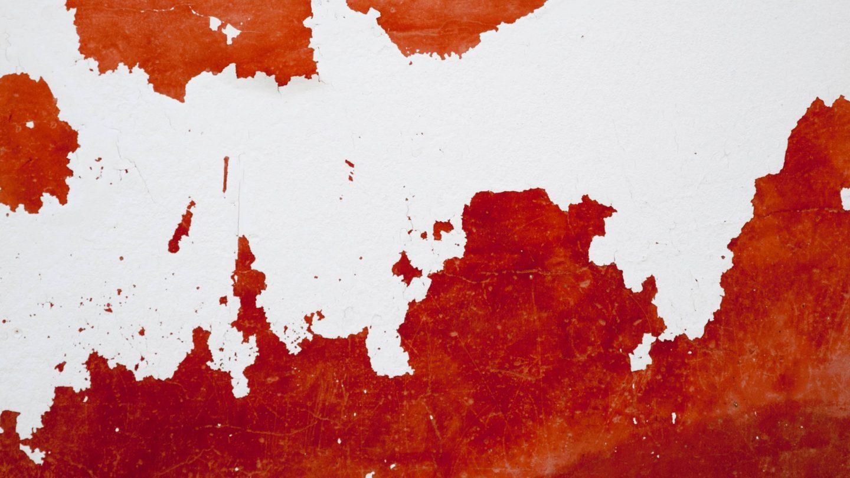 Metal Red White Erosion Art