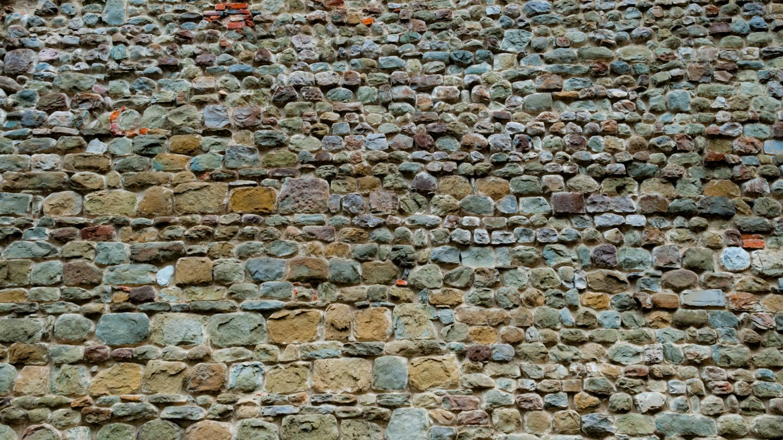 midieval colorful rocks wall