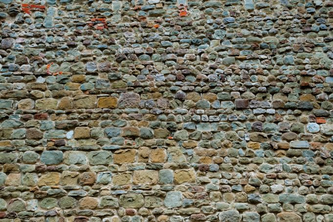 midieval colorful rocks wall