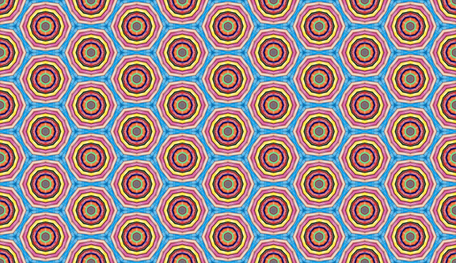 Multi color Coloring Pencils Circle Pattern