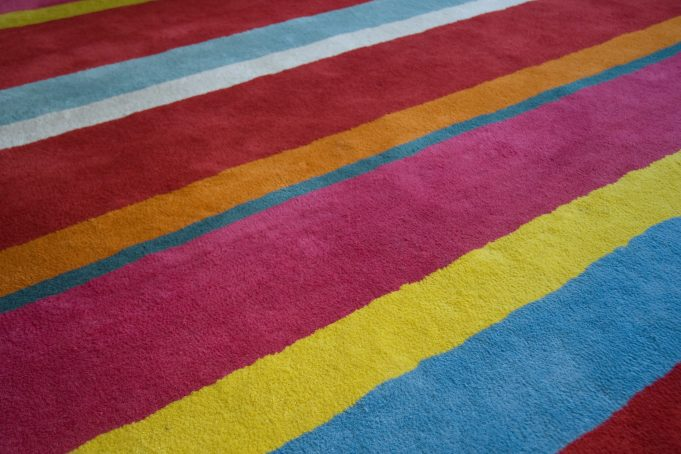 Multicolored Striped Carpet