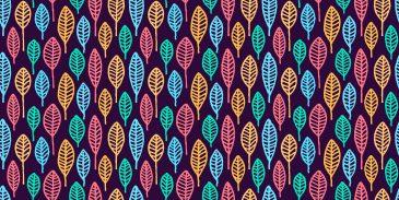 Multicolored line-art leave textures