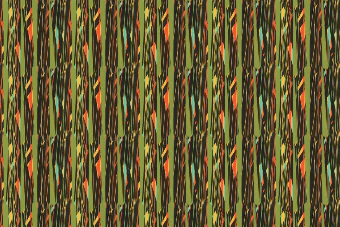 Natural Bush Pattern Vertical Lines