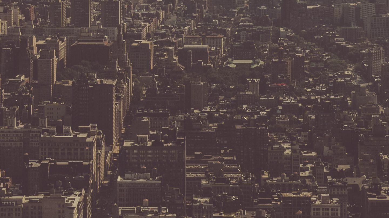 New York City concrete jungle background copy-space