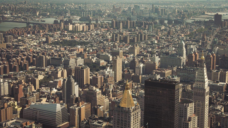 New York City old style historical skyline