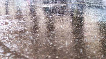 Rainy street water reflection