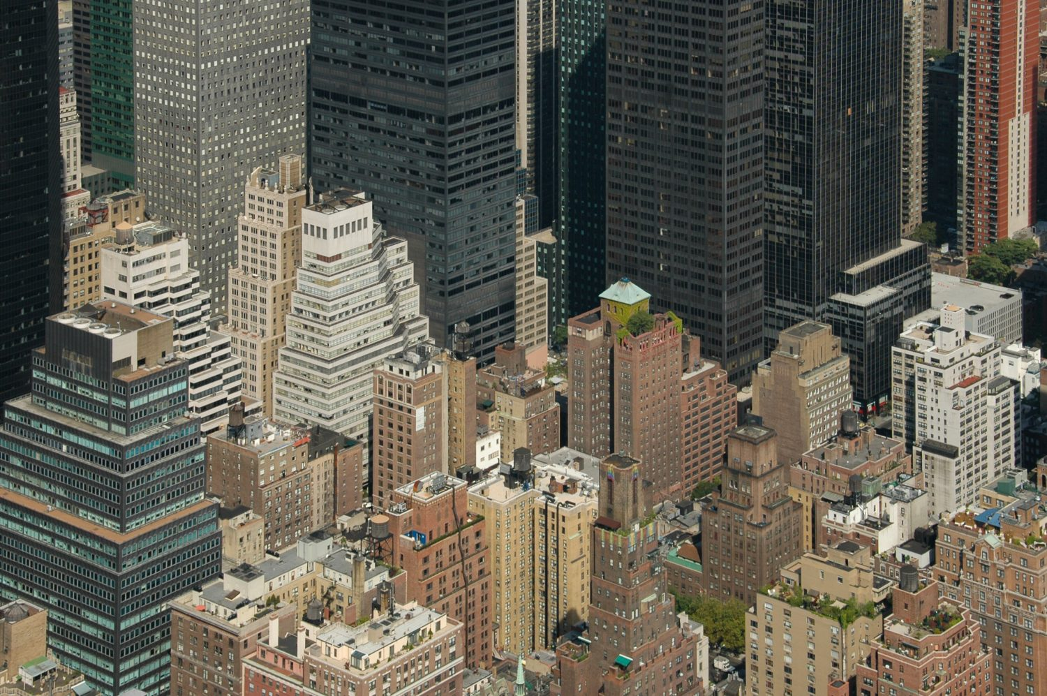 New York concrete jungle photographed from the Empire State Building Panoramic Terrace