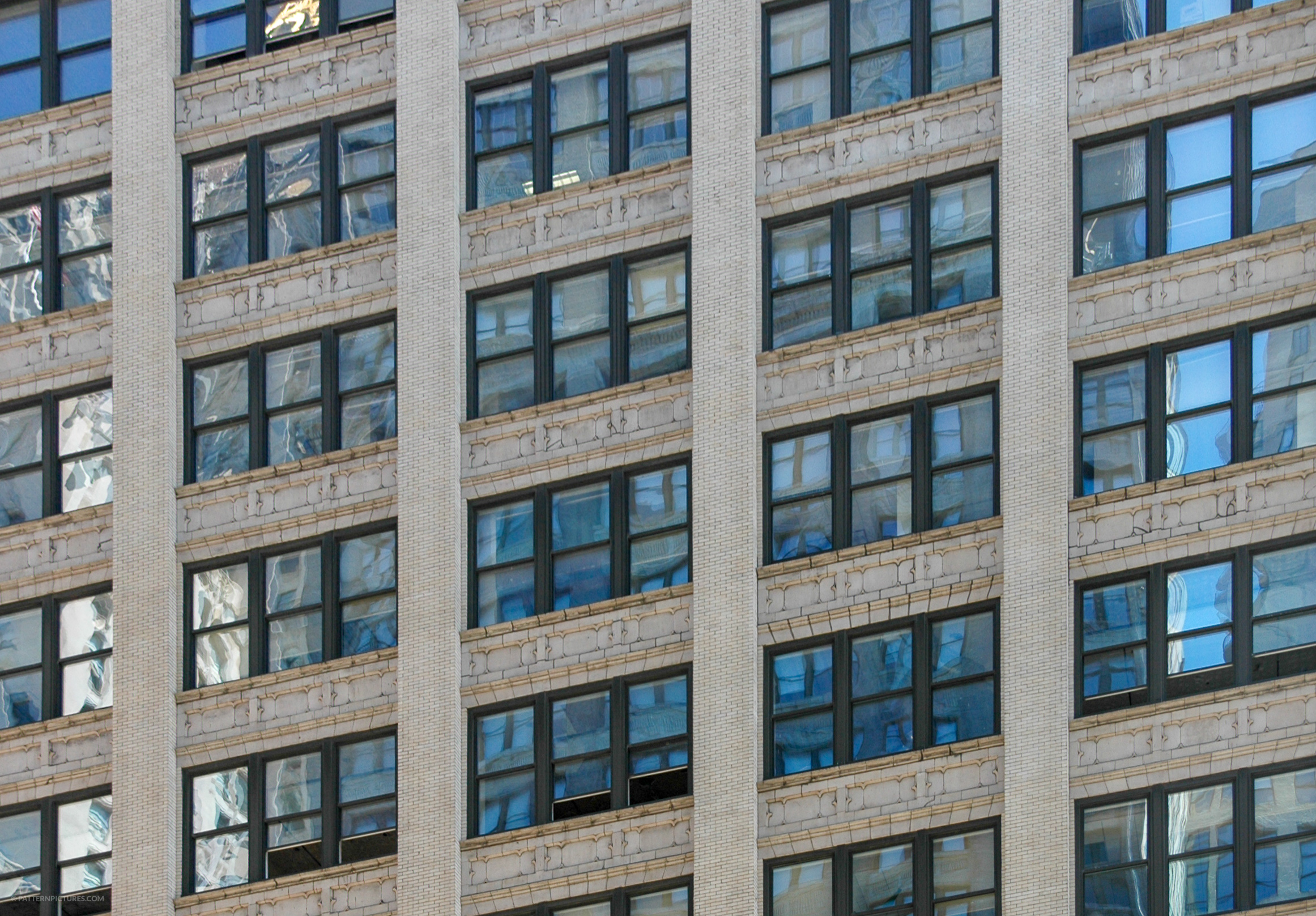 New York skyscraper repeating windows