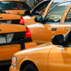 New York zigzag yellow cabs pattern