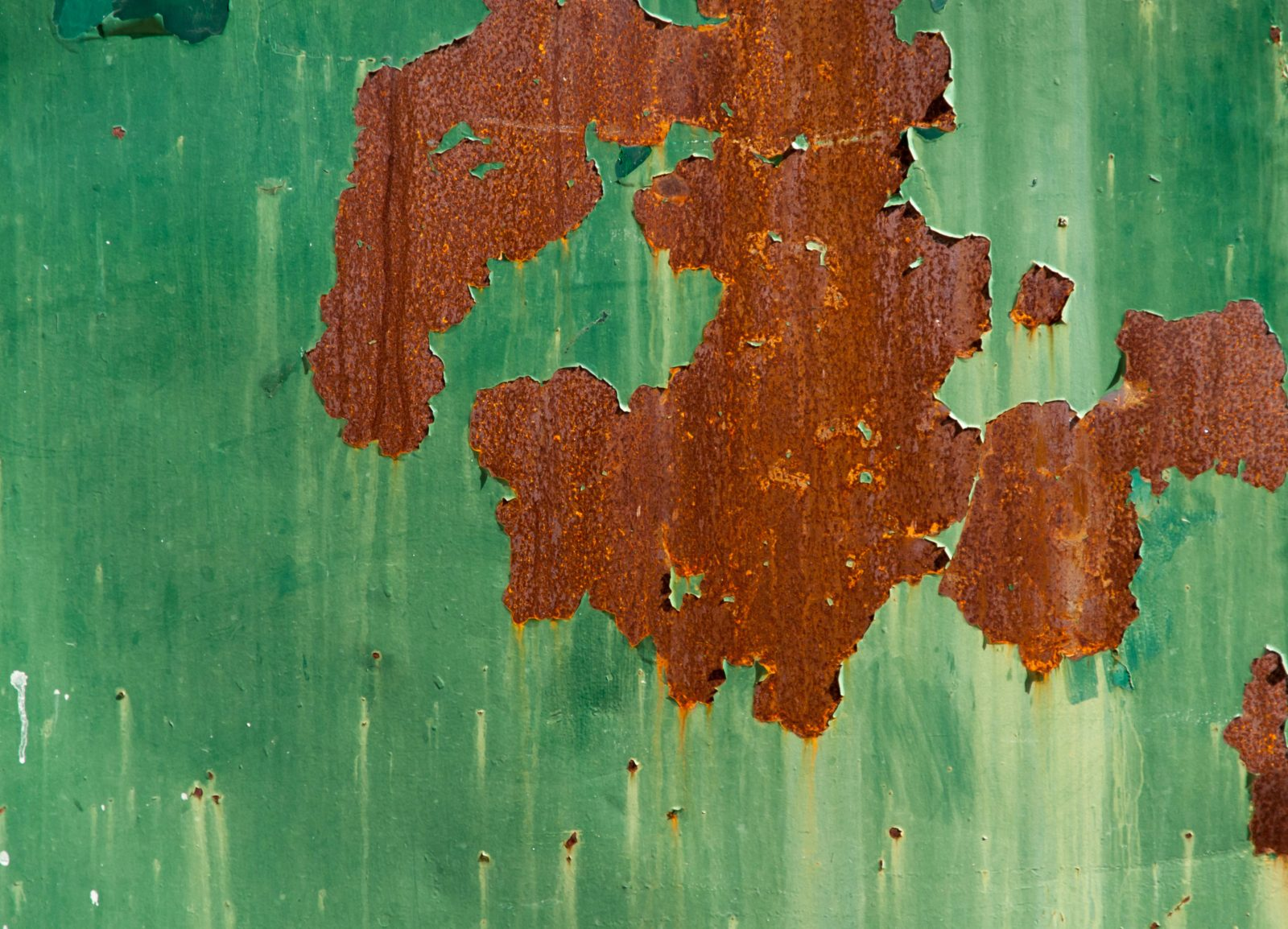 Old Worn Green Rusty Metal Door