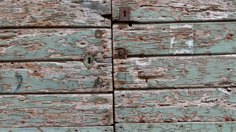 Old eroded wooden doors