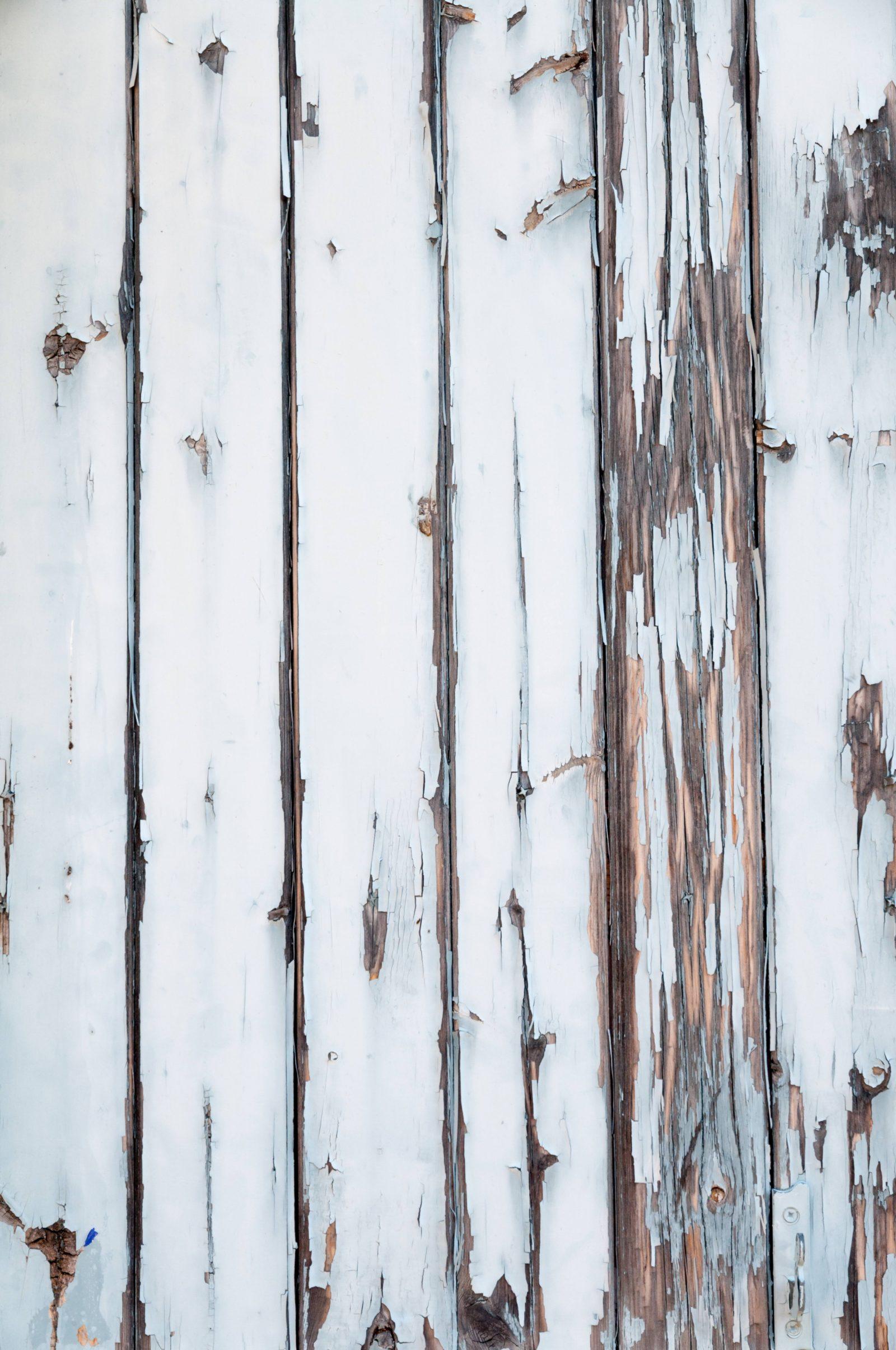 Old white wood planks