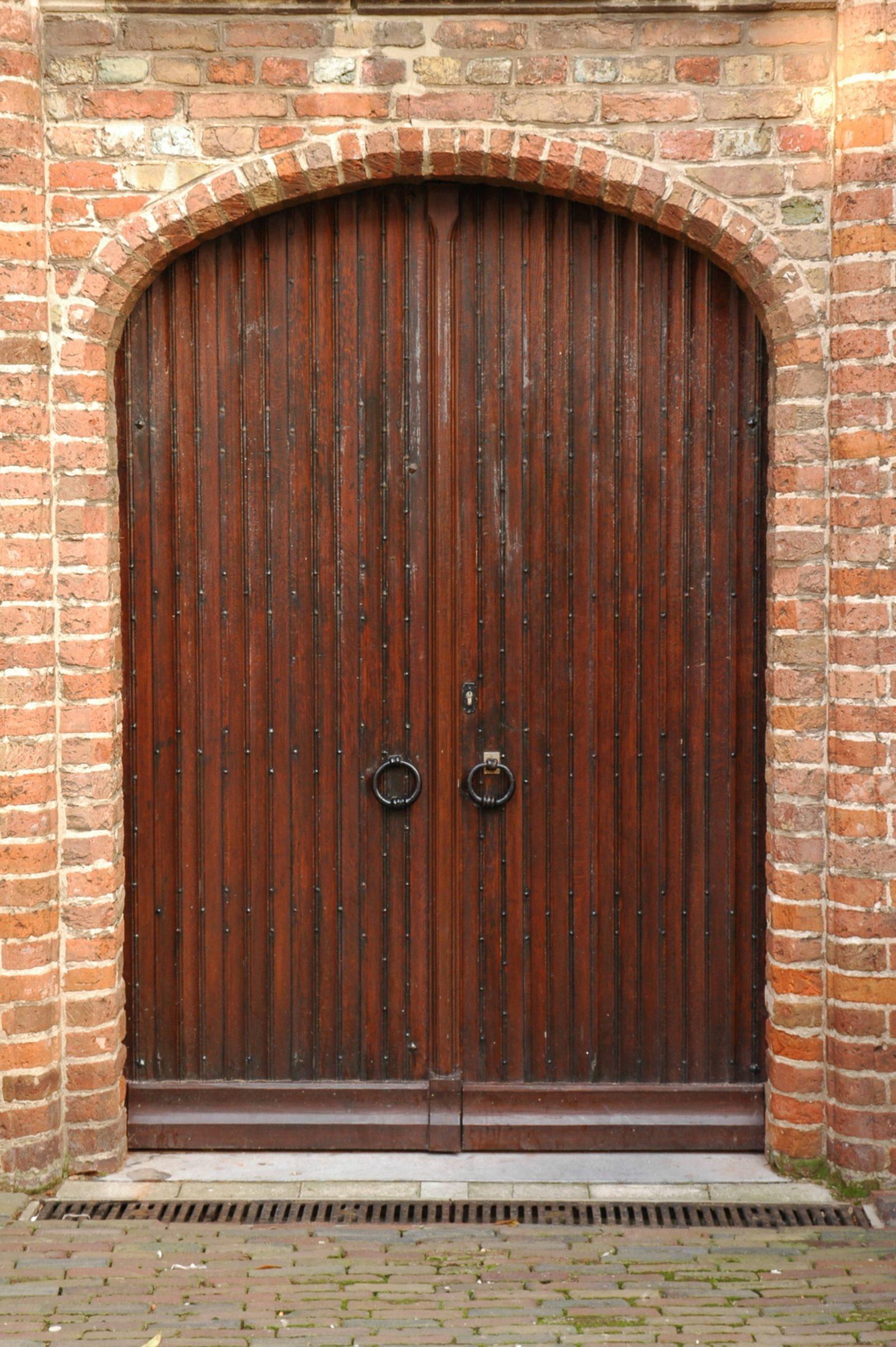 Old wooden door castle