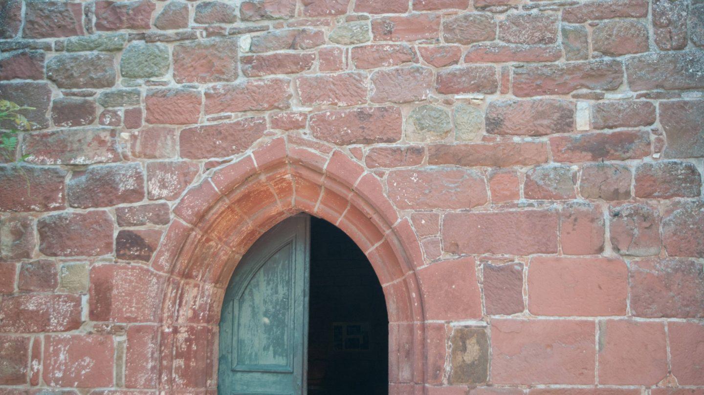Open church door medieval