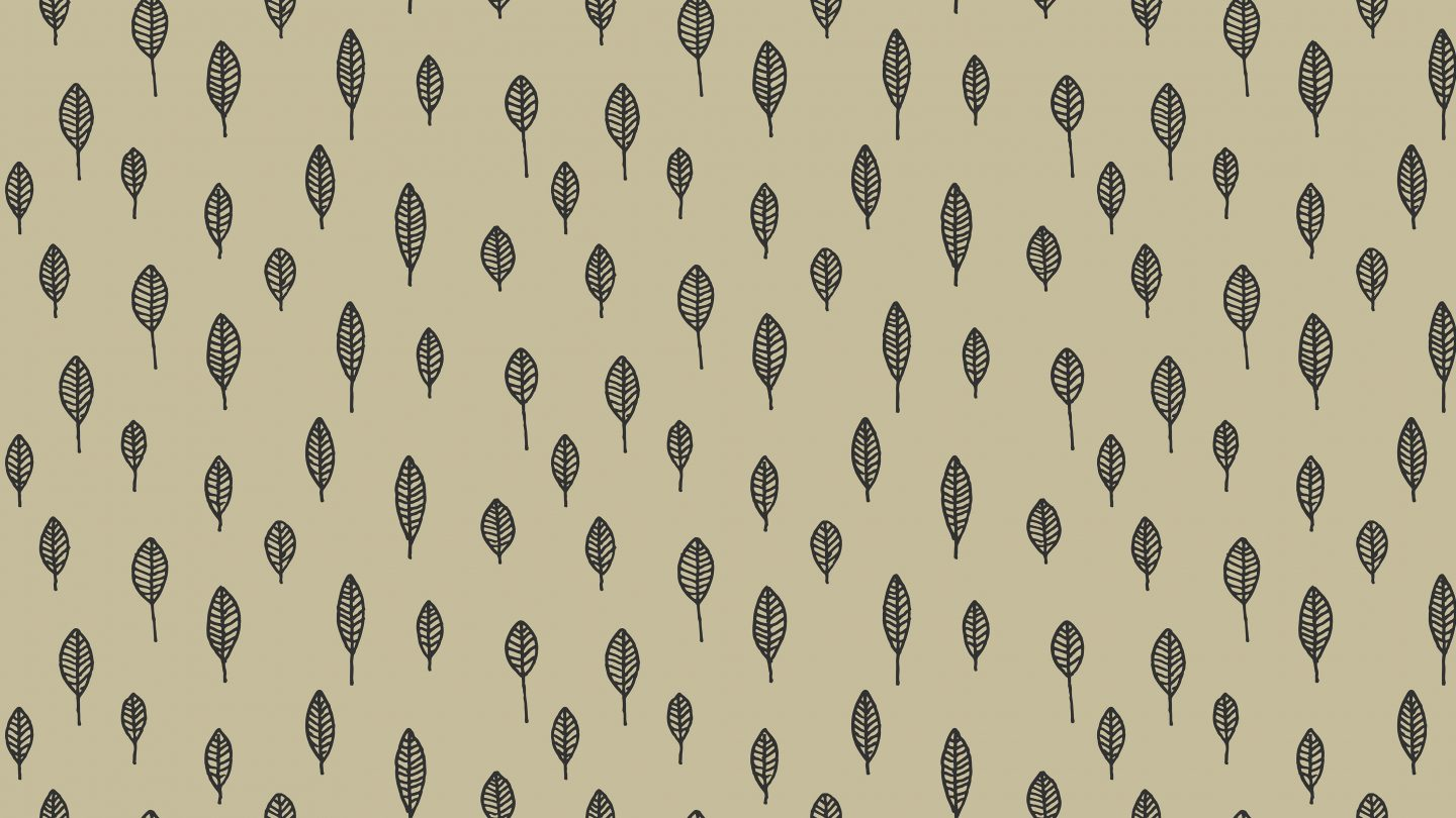 Outline leaves repetition seamless pattern