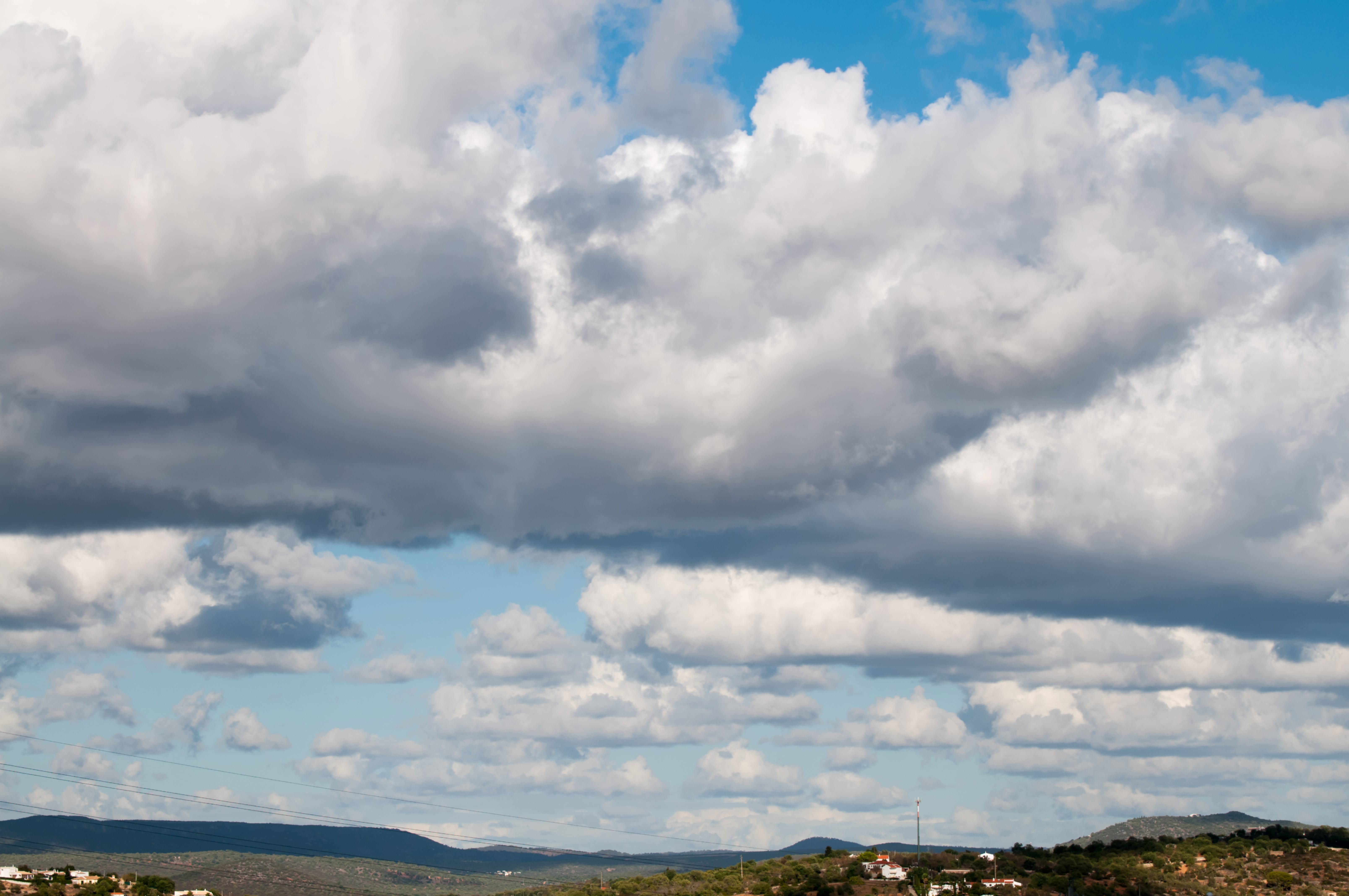 Panoramic View Clouds and Blue Sky