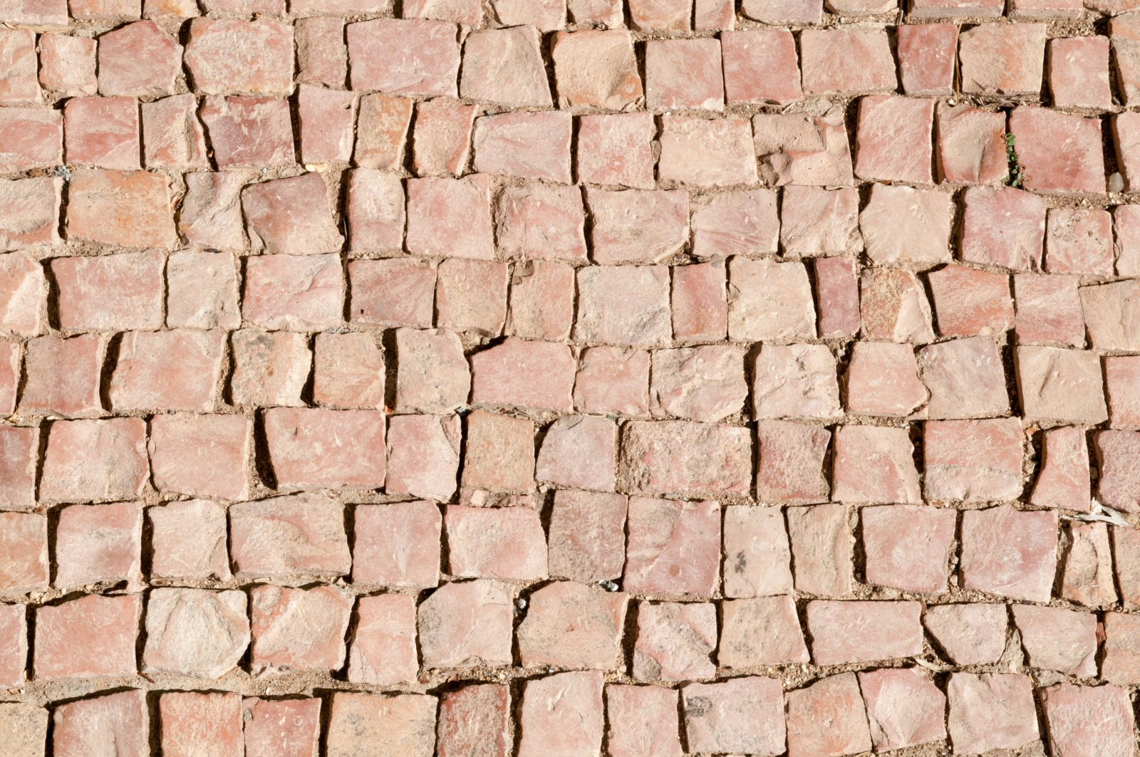 Square Red Bricks Street