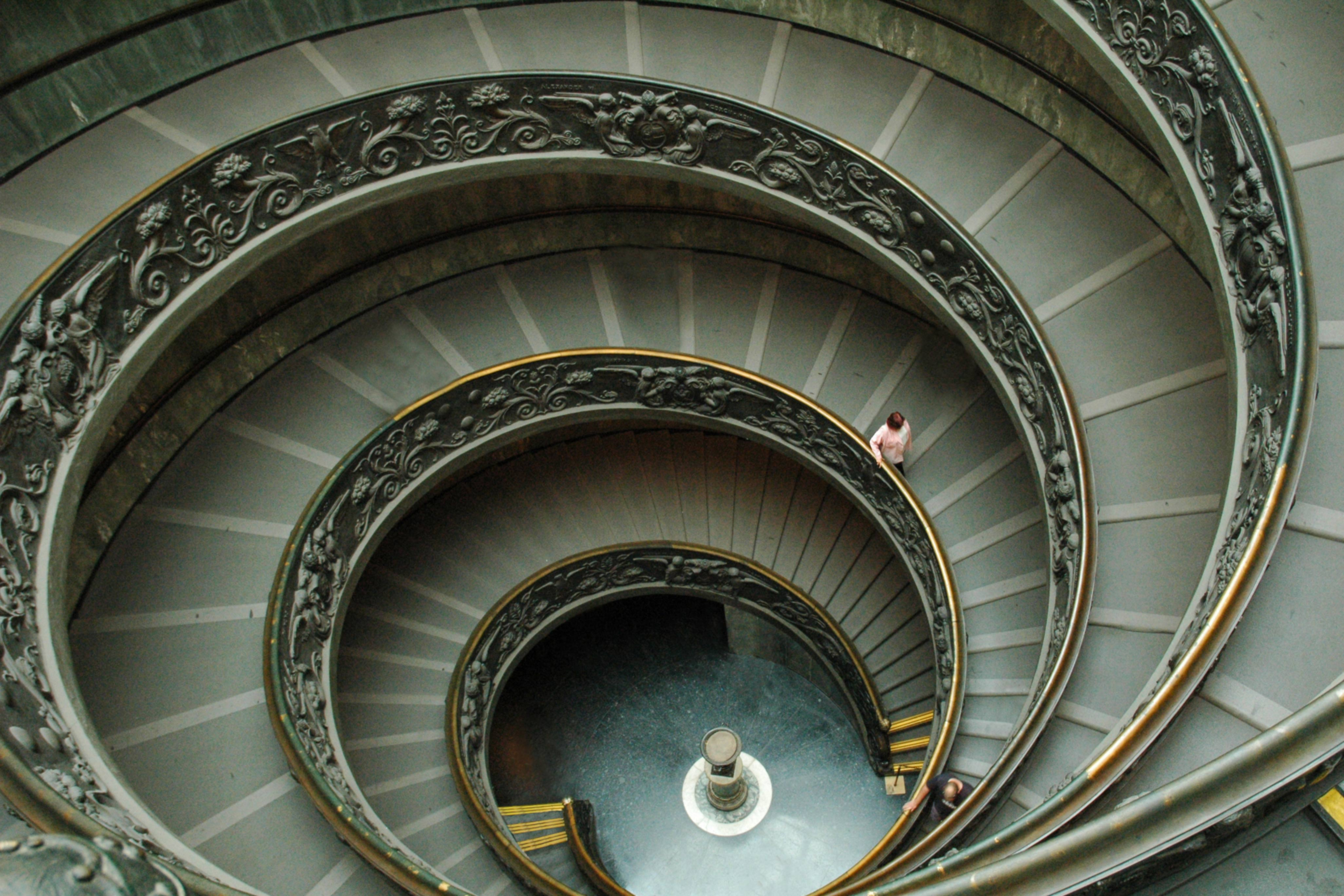 Famous Vatican Winding Staircase Rome