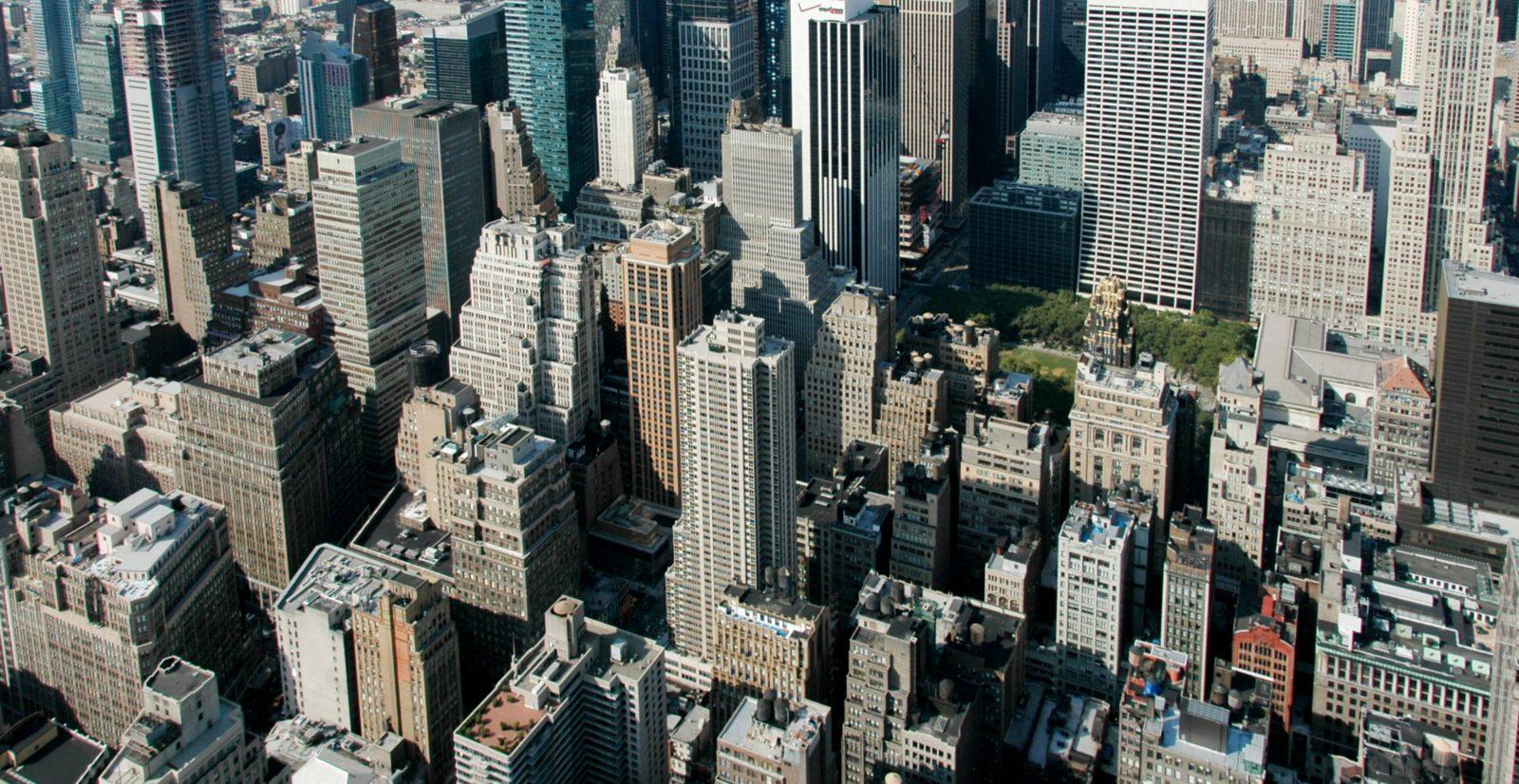 New York Skyscrapers Panoramic View