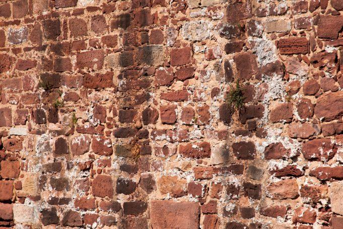 Ancient Brick Castle Wall