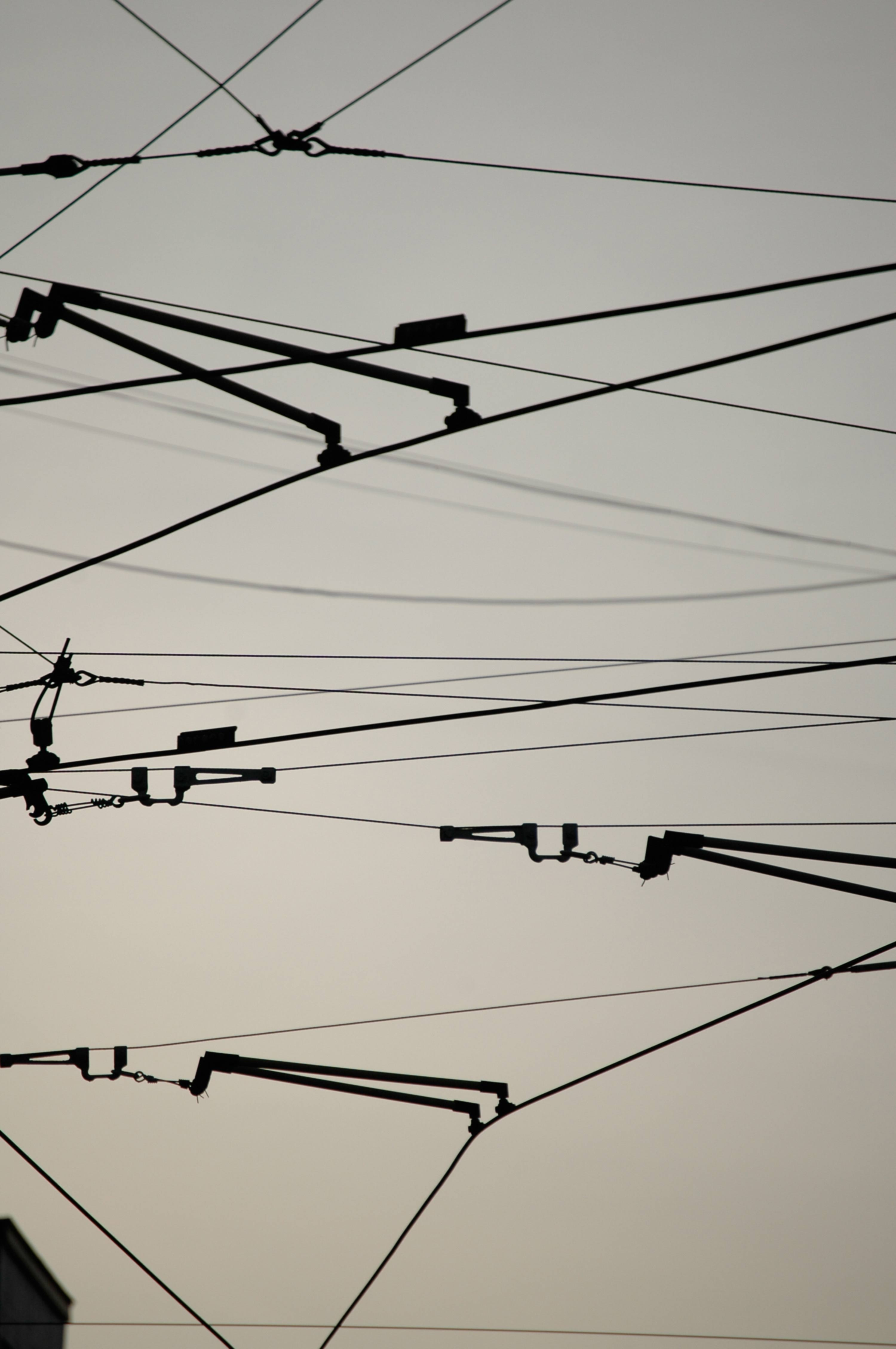 Train or Tram Electricity Wires Pattern
