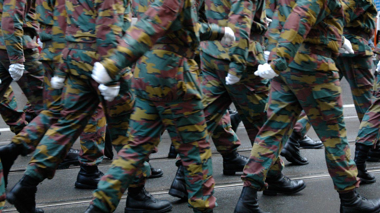 Belgium Marching Soldiers