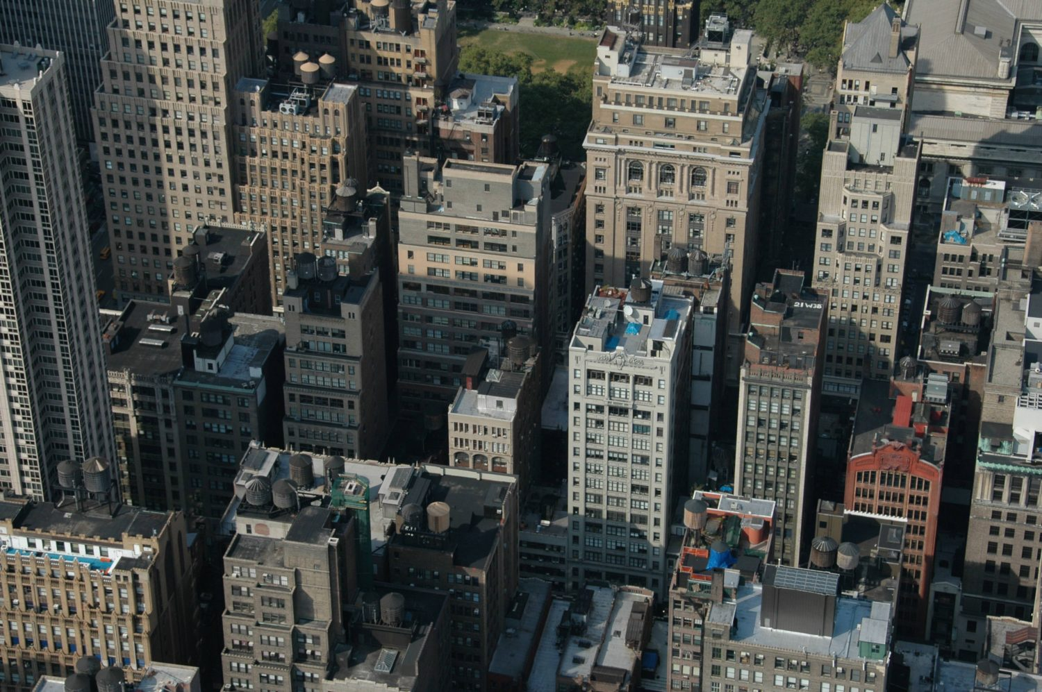 New York City Buildings Seen from the Top
