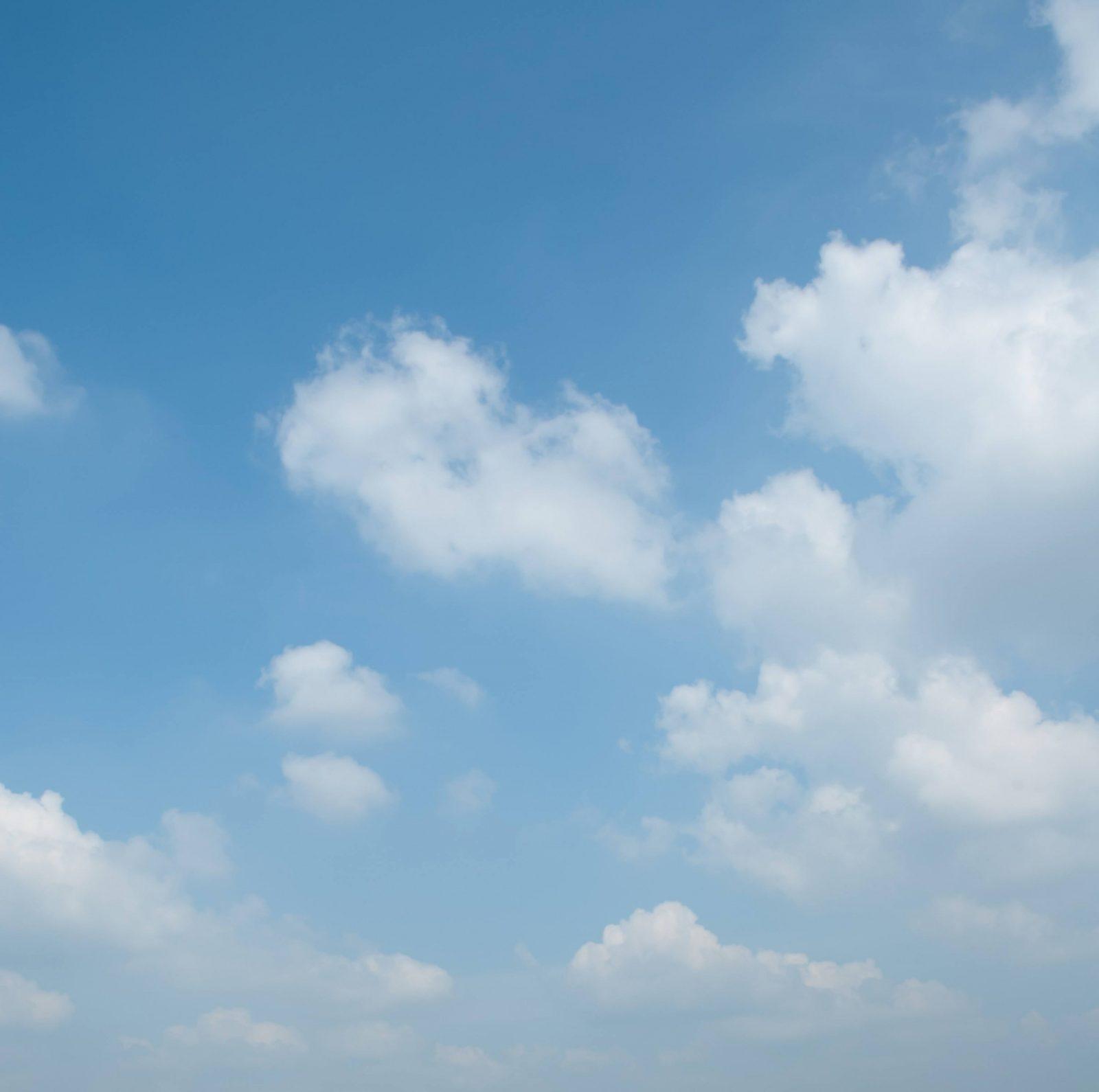 Soft White Clouds on a Light Blue Sky